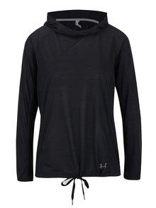 Čierne dámske funkčné tričko s kapucňou Under Armour Threadborne Train