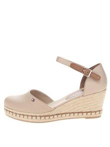 Béžové dámske sandále na platforme Tommy Hilfiger