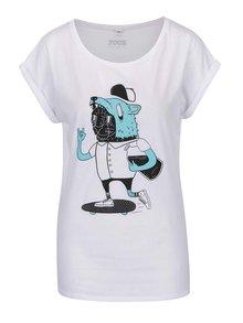 Bílé dámské tričko s potiskem ZOOT Originál