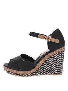 Černé dámské sandály na klínku Tommy Hilfiger