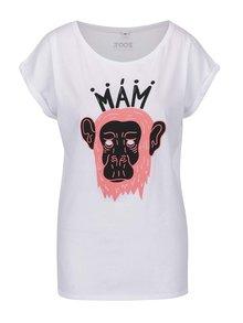 Bílé dámské tričko Mám opici ZOOT Originál