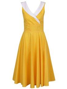 Žluté puntíkované šaty Lazy Eye Madison
