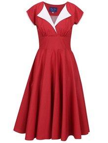 Červené bodkované šaty Lazy Eye Nella