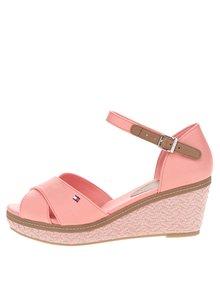 Koralové dámske sandále na platforme Tommy Hilfiger