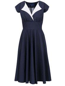 Tmavě modré puntíkované šaty Lazy Eye Nella