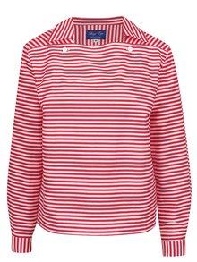 Červeno-bílá pruhovaná švédská košile Lazy Eye