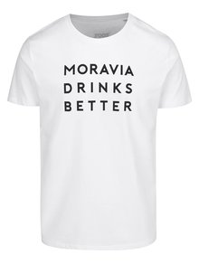Bílé pánské tričko ZOOT Originál  Moravia Drinks Better