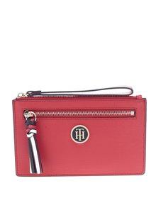 Červená listová kabelka/peňaženka Tommy Hilfiger