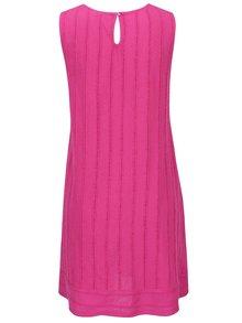 Ružové šaty bez rukávov s jemným plastickým vzorom Yest