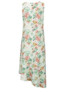 Svetlozelené asymetrické šaty s motívom listov Yest