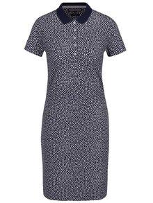 Krémovo-modré kvetované šaty s golierikom Tommy Hilfiger