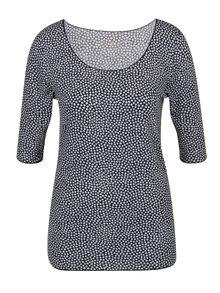 Bílo-modré dámské vzorované tričko Tommy Hilfiger