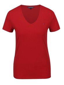 Červené dámské tričko s krátkým rukávem Tommy Hilfiger