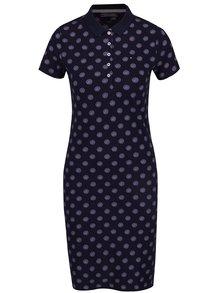 Tmavě modré vzorované šaty s límečkem Tommy Hilfiger