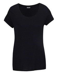 Tricou albastru închis&negru Jacqueline de Yong Spirit cu model în dungi