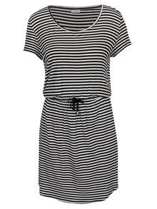 Černo-bílé pruhované šaty Jacqueline de Yong Spirit