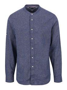 Modrá pánska ľanová košeľa Tommy Hilfiger