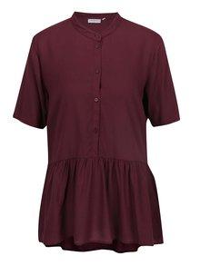 Bluză vișinie Jacqueline de Yong Safira cu guler rotund