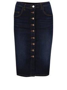 Modrá džínová sukně s knoflíky Vila Cutit
