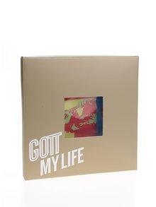 Modro-červená dámska saténová šatka Gott My Life