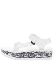 Sandale albe Teva cu talpă wedge