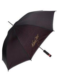 Červeno-černý dámský deštník Gott My Life