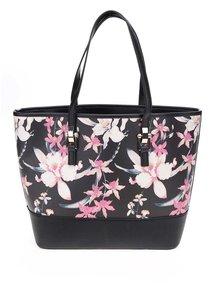 Geantă shopper neagră Miss Selfridge cu imprimeu floral
