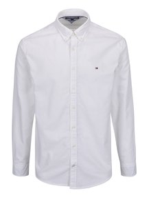 Biela pánska košeľa s dlhým rukávom Tommy Hilfiger