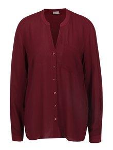 Vínová volná košile s dlouhým rukávem VERO MODA Sue