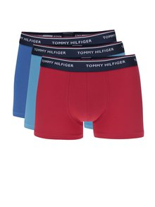 Set de 3 boxeri rosu/ 2 albastru cu print logo Tommy Hilfiger