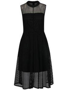 Čierne perforované šaty Alexandra Ghiorghie Deep