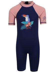 Ružovo-modrý dievčenský plavkový overal Roxy Sandy