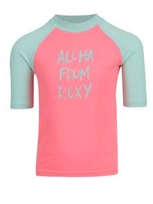 Neónovoružové dievčenské plavkové tričko Roxy Sail