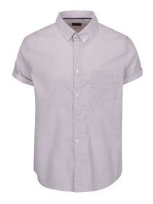 Červeno-biela košeľa s jemným vzorom Burton Menswear London