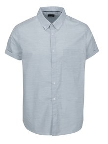 Svetlomodrá košeľa s jemným vzorom Burton Menswear London