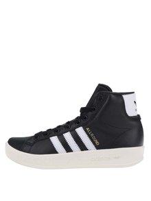 Pantofi sport negri gheată cu platformă pentru femei adidas Originals AllRound