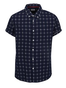 Tmavomodrá kockovaná košeľa Burton Menswear London