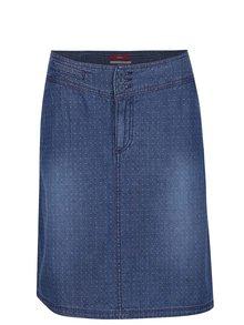 Modrá džínová sukně s jemným vzorem s.Oliver