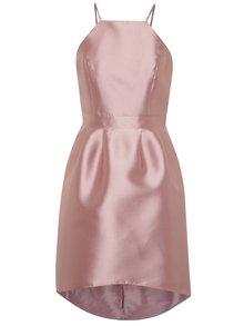 Svetloružové lesklé šaty na ramienka Miss Selfridge
