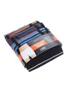 Set 3 perechi de boxeri multicolori  Burton Menswear London cu model in dungi