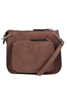 Hnedá crossbody kabelka s vreckami Dorothy Perkins