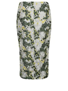 Zelená puzdrová vyšívaná sukňa Dorothy Perkins