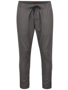 Sivé pánske nohavice s pružným pásom s.Oliver