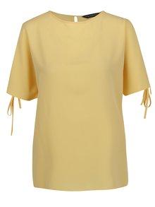 Žlutá halenka s netopýřími rukávy Dorothy Perkins