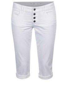 Bílé dámské 3/4 slim fit kalhoty s nízkým pasem QS by s.Oliver