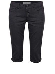 Tmavě šedé dámské 3/4 slim fit kalhoty s nízkým pasem QS by s.Oliver