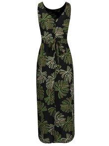 Zeleno-čierne vzorované maxišaty Dorothy Perkins Petite