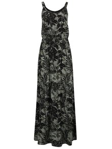Rochie maxi negru&verde QS by s.Oliver cu model floral