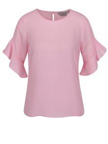 Bluză roz pal Dorothy Perkins Petite cu mâneci clopot