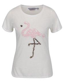 Tricou alb Dorothy Perkins Petite cu model cu reflexii metalice
